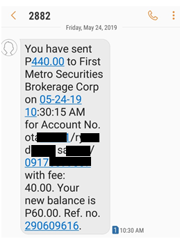 First Metro Securities - Funding Your Account